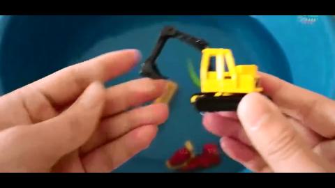搅拌车挖掘机消防车趣味辨识名称