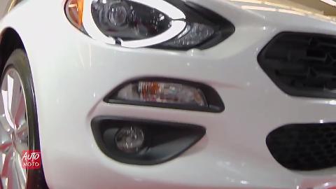 车展实拍2019款菲亚特敞篷跑车这车你见过吗
