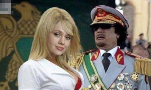 """卡扎菲把最宠爱的保镖称之为""""金发宝贝""""(组图),两者是何关系"""