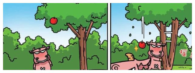 搞笑农场:么么用力摇苹果树,苹果没掉下来,可是树遭殃了……