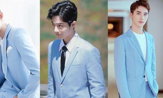 10男星的蓝西装造型,李现帅气、张翰贵气,王一博还是辣么酷