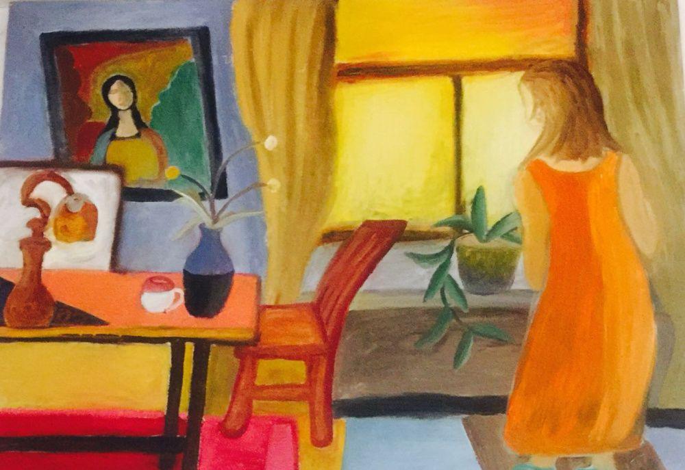 青年女艺术家吴亚莉表现主义风格绘画作品欣赏