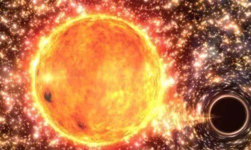 当恒星发生坍缩时,坍缩将电子挤进了质子里,便形成了中子星