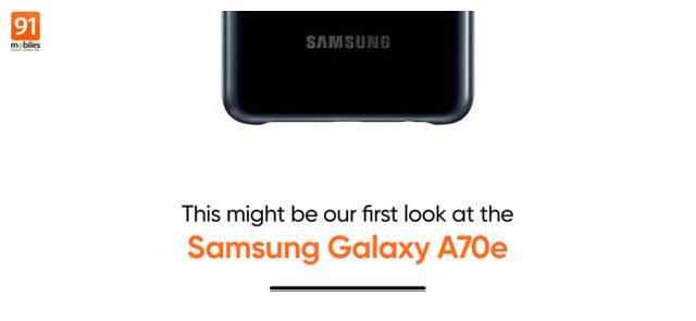 Galaxy A70e渲染图曝光 采用后置三摄与水滴型刘海屏