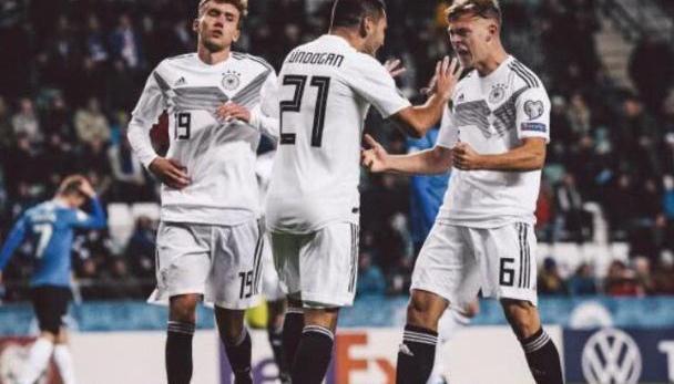 欧预赛-京多安传射 10人德国3-0 红军大将双响荷兰2-1 比利时2-0