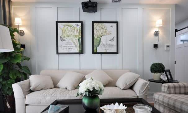 这种美式风设计还是头次见,卧室背景墙打满床头柜,不压抑更漂亮