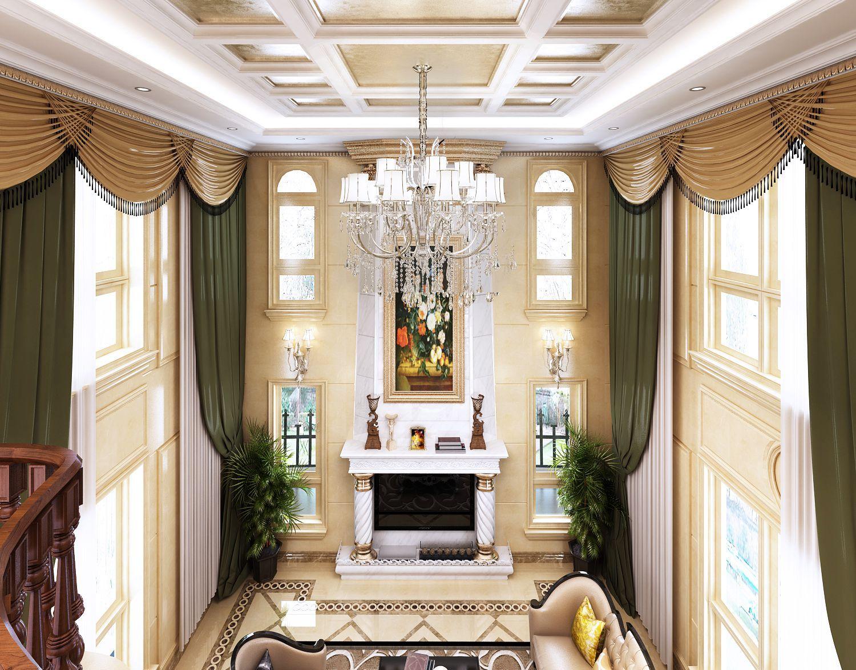 「别墅装修」龙山希思庄园320平法式风格装修效果图