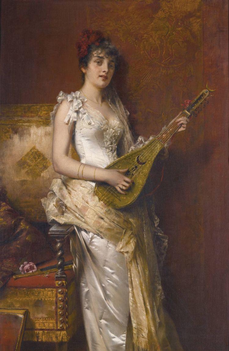 美术欣赏:德国画家笔下的年轻美女肖像图
