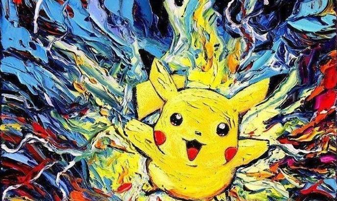 当童年中的动漫画风变成梵高的星空,无脸男没有违和感