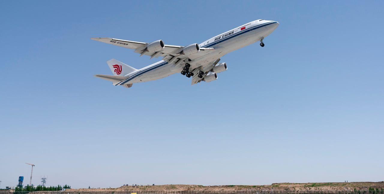国航完成北京大兴机场真机试飞