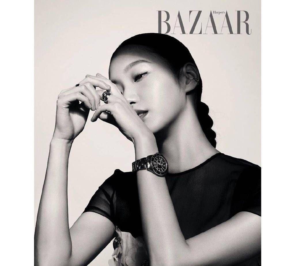 金高银登韩国版芭莎12月刊,这种酷酷的美艳风格