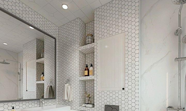卫生间不要再用会生锈的置物架了 现在人家都在用壁龛和小隔板