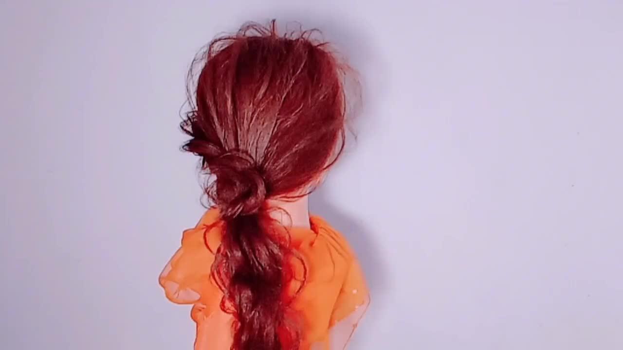 中长发怎么扎好看,时尚又好看的中长发扎发,简单易学又好看