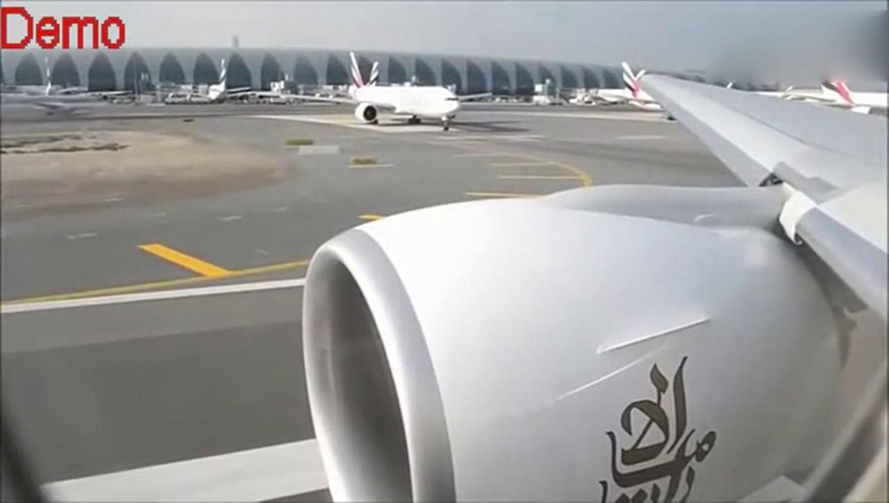 飞机起飞视频 实拍波音777客机起飞