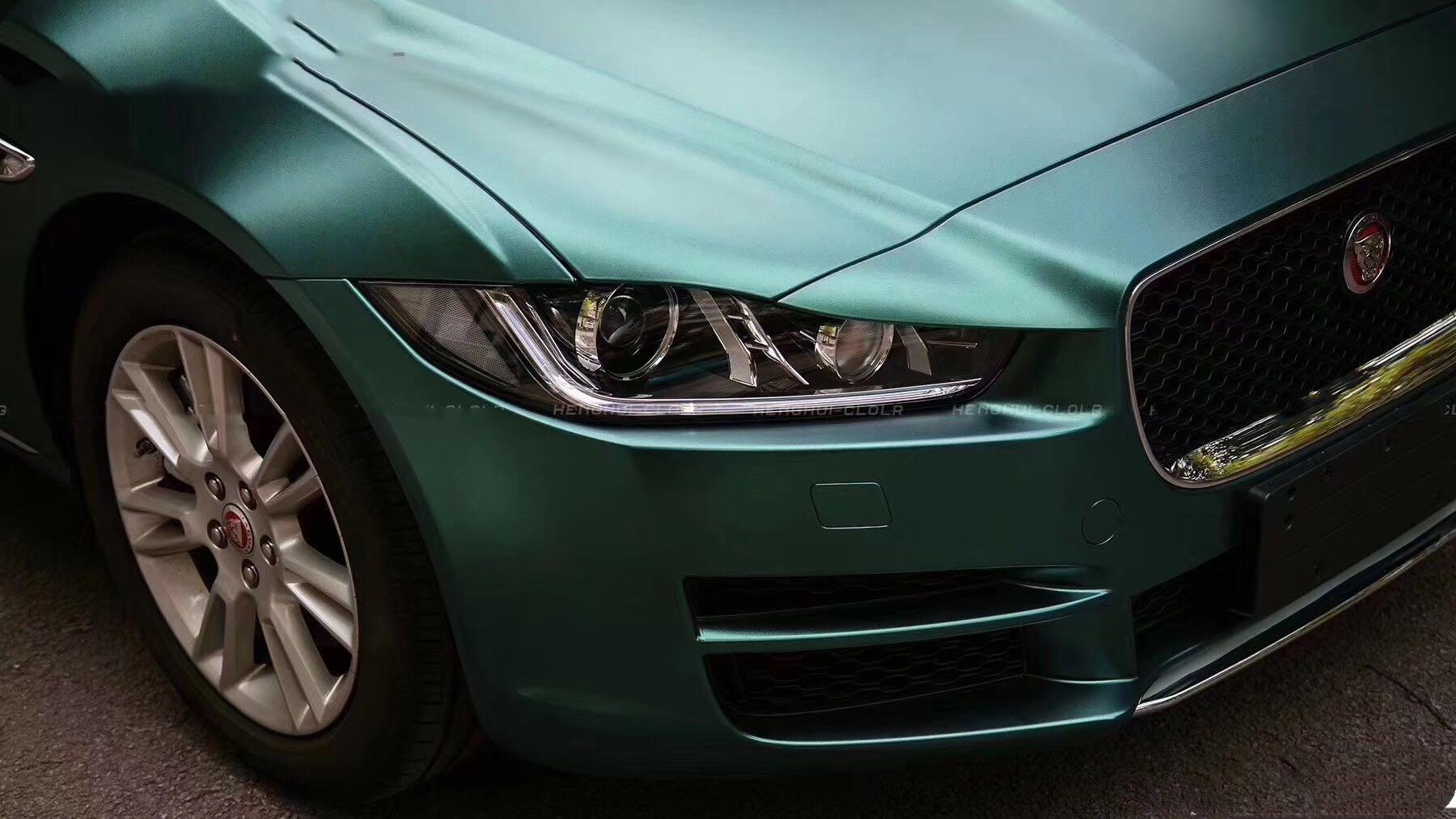 一不小心跳出来一头蓝色的豹子丨捷豹XEL改色电光墨绿