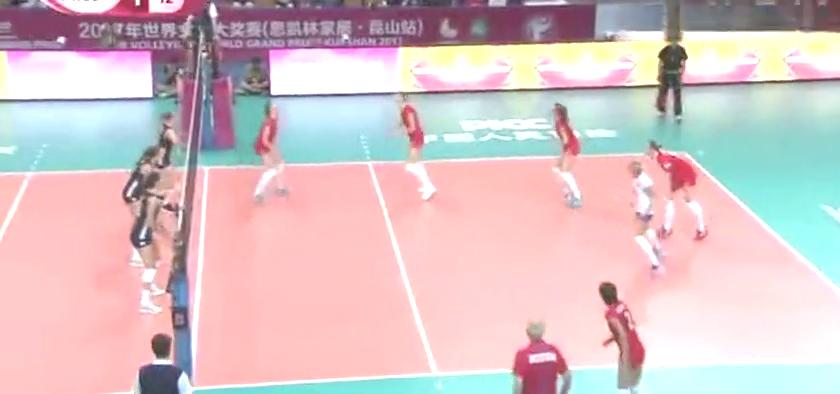 2017世界女排大奖赛首周五佳球,中国意大利超级神球列第1