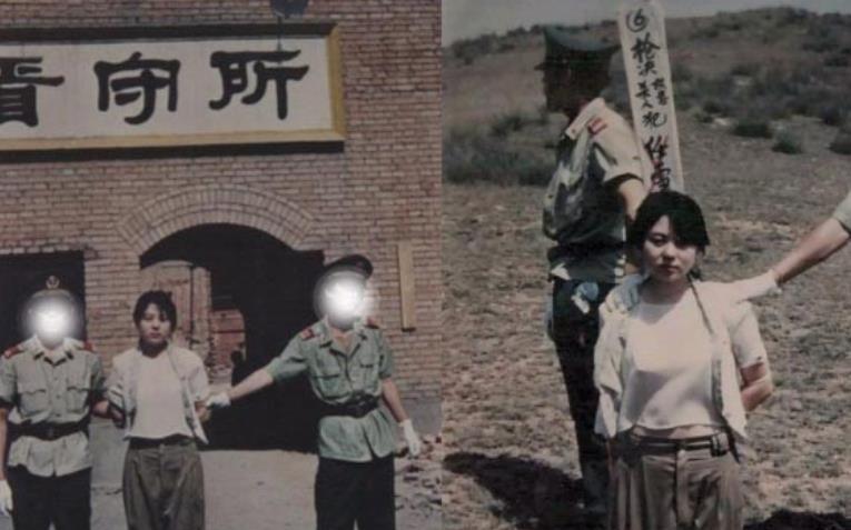 罕见老照片:最美死刑犯即将被枪决,义和团义士跪地等待死亡
