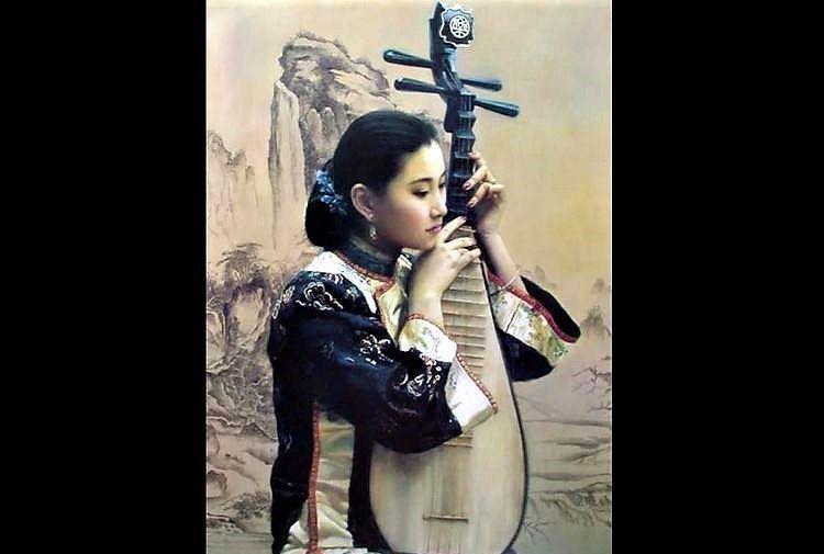 陈逸飞笔下的中式美人