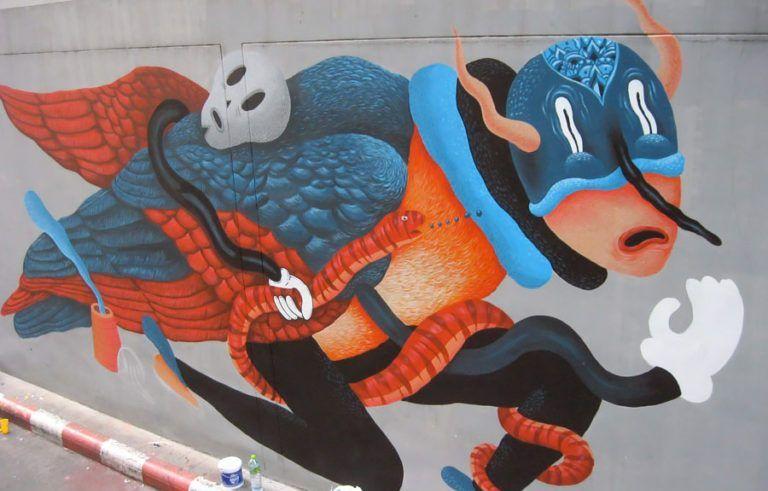 罗马尼亚艺术家Saddo的绘画和街头艺术