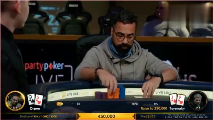 德州扑克欧洲决赛 ,两位选手最后带走了百万欧元大奖。