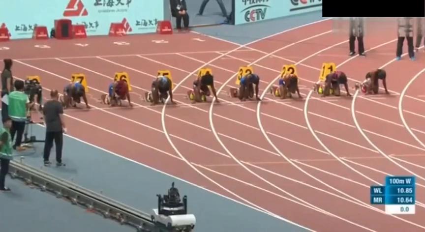 上海钻石联赛女子100米!伊莲娜汤普森碾压所有黑女夺冠!