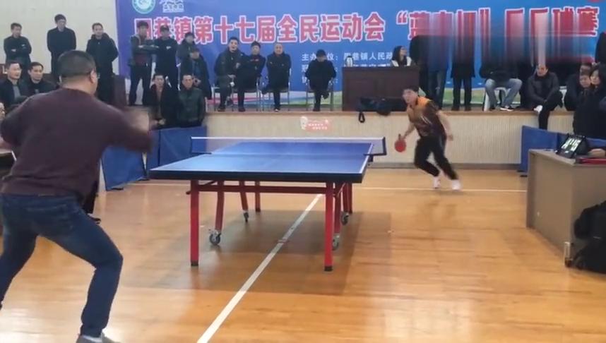 业余的乒乓球联谊赛,没想到高手如云,接球就扣,太精彩了