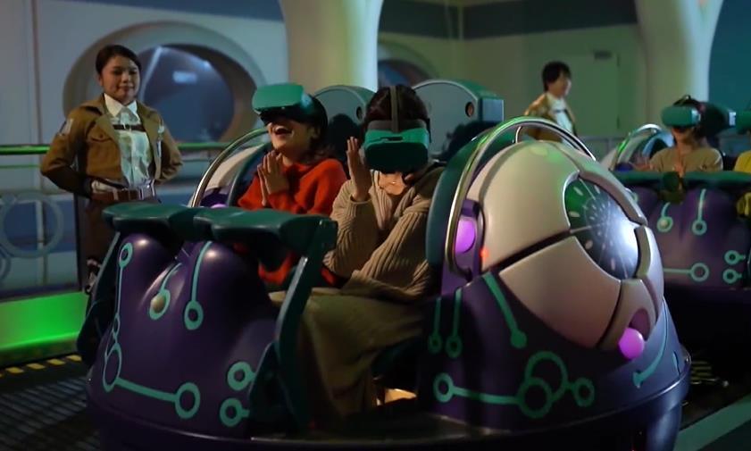 日本环球影城开放《进击的巨人》过山车,可体验被巨人支配的恐惧