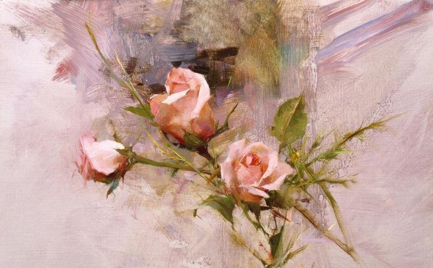 当代世界最杰出的画家和教育家之一理查德斯契米德花卉作品选