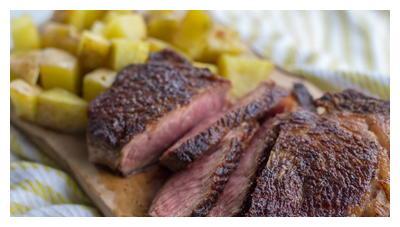 黑胡椒煎牛排,教你怎么煎出合格牛排