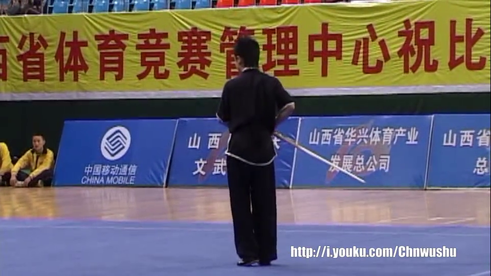 2005年第十届全运会男子武术套路预赛男子棍术026马聪(辽宁)