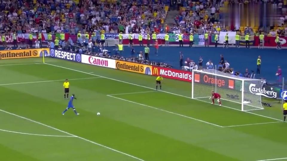 巴神的顿挫+睡皮的勺子!欧洲杯意大利VS英格兰经典点球大场