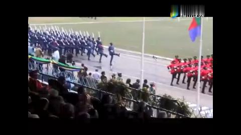 除了中国人民解放军,东非这国的正步踏得不是一般的震撼!