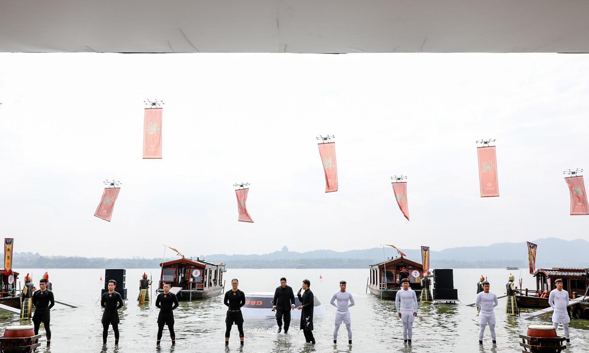 现场直击:马云张纪中携四大门派齐聚西湖,助力功守道圆梦奥运