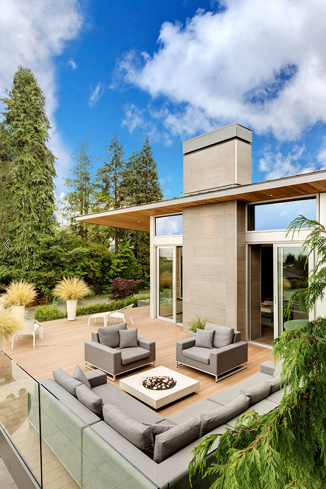 天井v天井:有露台别墅,室内高端和一层别墅的两层庭院大宅普吉别墅车库图片