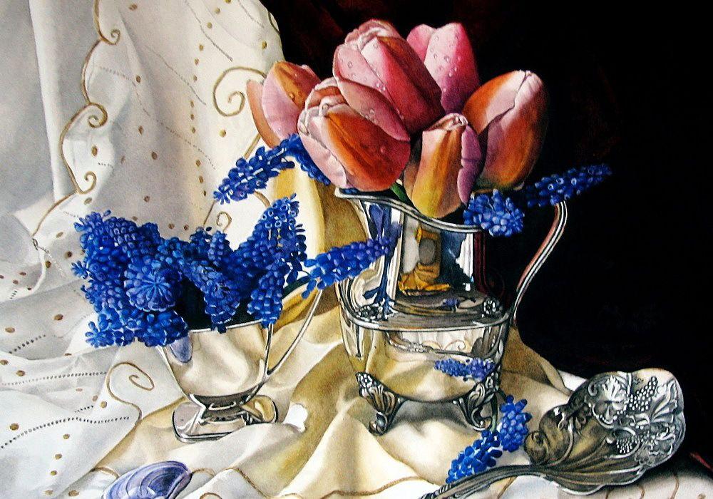 晶莹剔透的美:艺术家KimberlyMeuse静物花卉作品欣赏