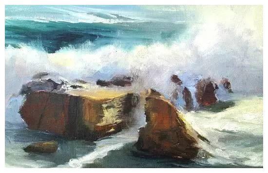 捷克画家Paul gazur海景油画作品欣赏