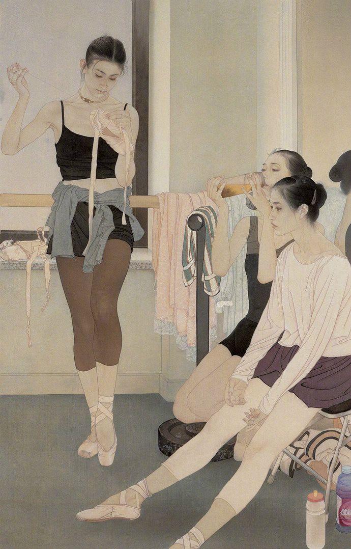 恬静之美,一组中国工笔画家何家英的作品欣赏