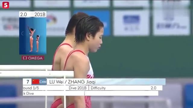 2019世界跳水北京站女子双人十米跳台决赛,水花说明了一切!