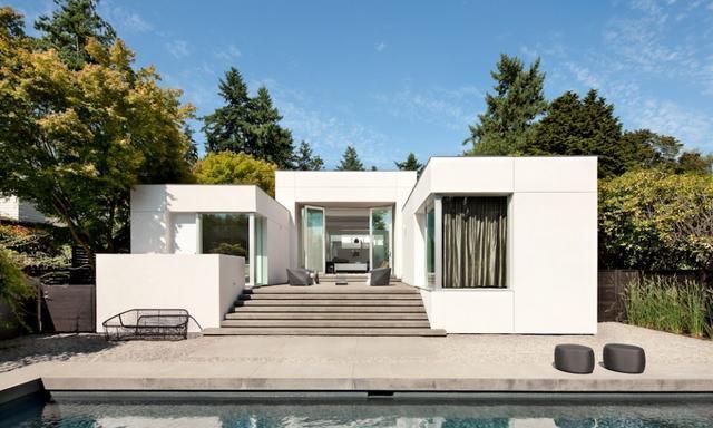 美术馆般的极简住宅——现代绿洲,华盛顿