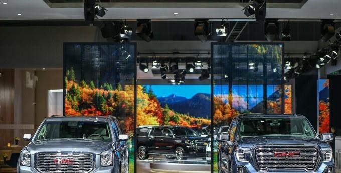 GMC进口皮卡新车实拍,10AT,超大空间更豪华