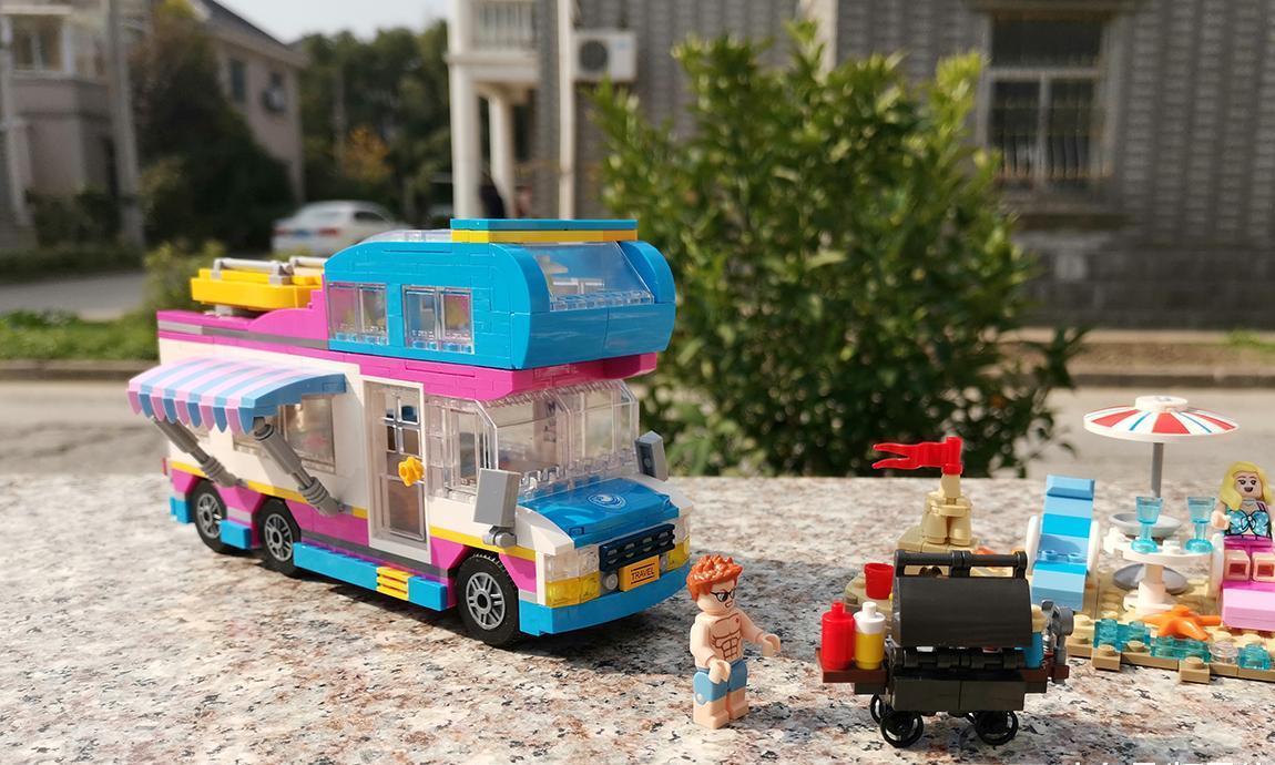 阳光、沙滩和房车:Loz积木mini颗粒沙滩房车图文评测