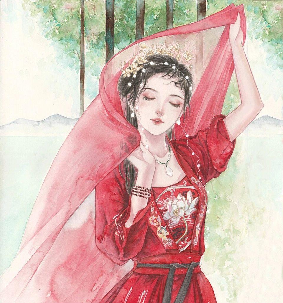 唯美古风二次元手绘壁纸,爱的童话书,每夜为你朗读!