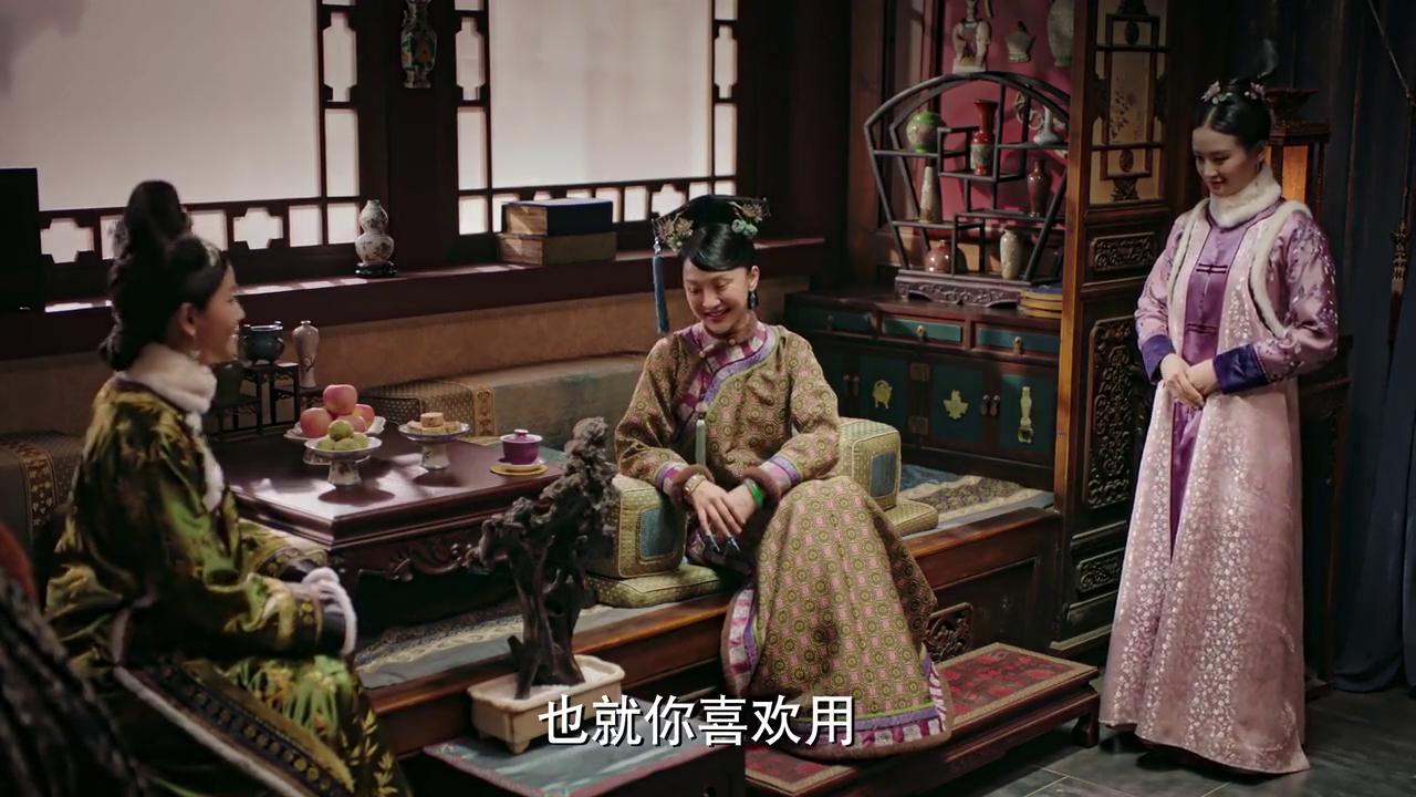 心机贵人来见贵妃,见面没多久就挑拨贵妃跟皇帝的关系,真是城府