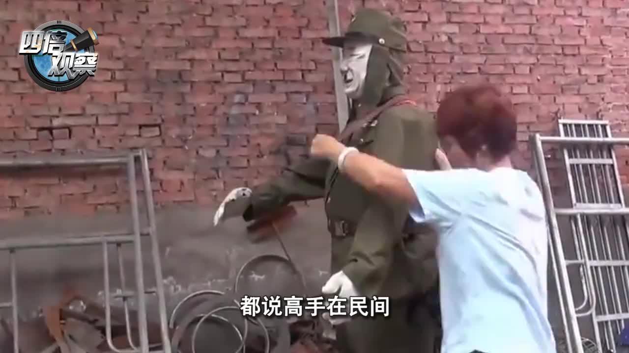 农民大叔发明日本人造型机器人转给村民拉车网友解气