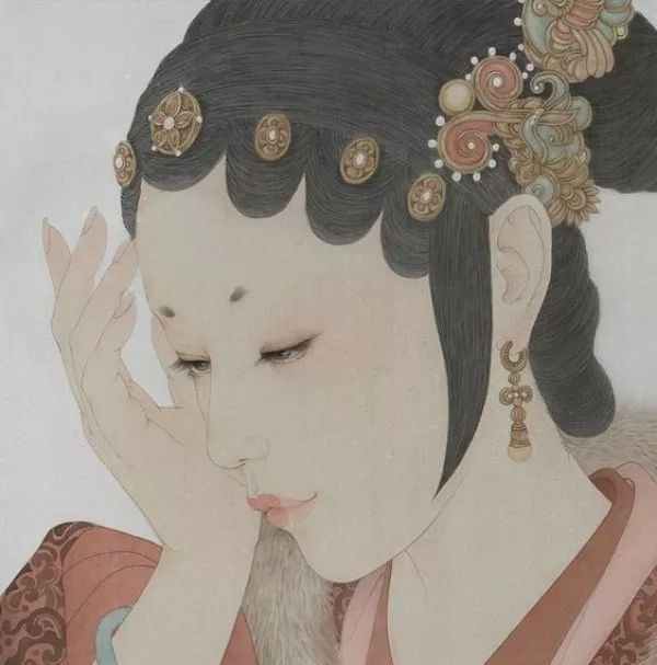 画家画了一组丹凤眼高鼻梁的中国仕女,最后一张却像希腊女神?