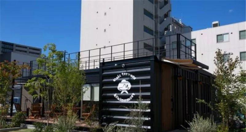奈良黑色集装箱咖啡馆