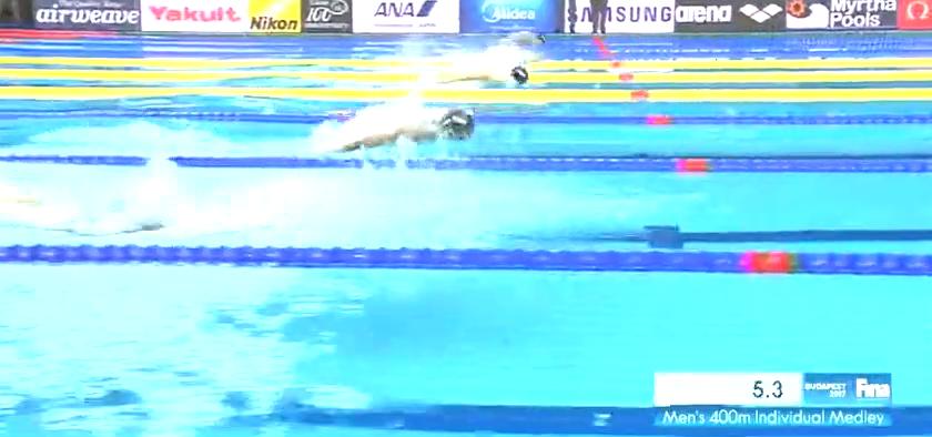 游泳世锦赛最后一日!男子400米混合泳,美国名将卡利斯夺冠