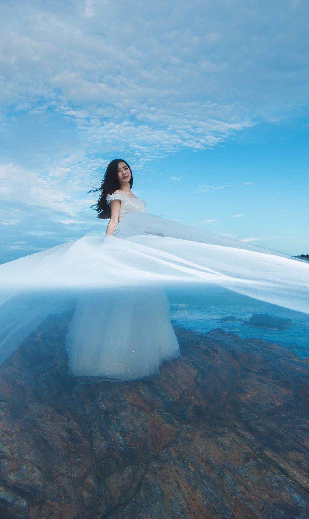 每一个女人一生中都会穿的最美丽的衣服,一组婚纱壁纸,喜欢关注
