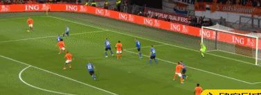 荷兰5-0爱沙尼亚,维纳尔杜姆戴帽,阿克破门