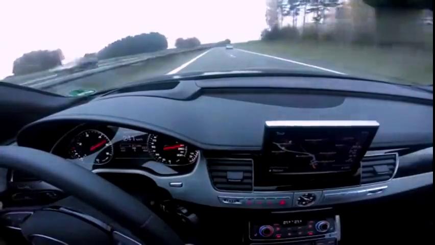 视频:奥迪A8德国高速狂飙,车内静音效果很明显!